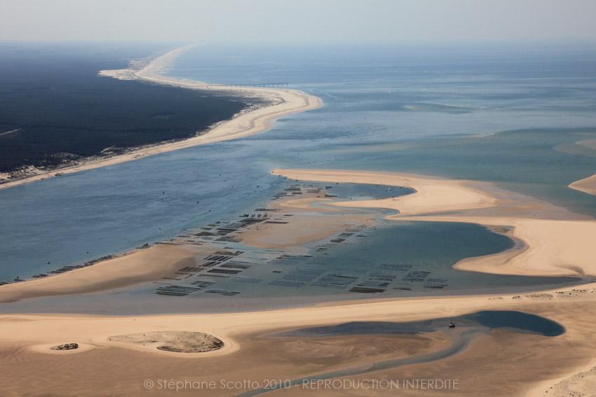 Le banc d'Arguin en mai 2010 photographie aérienne : Stéphane Scotto