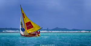 Régate Yasala dans le lagon de St François avecLalou Roucayrol - ©StephaneScotto 2014